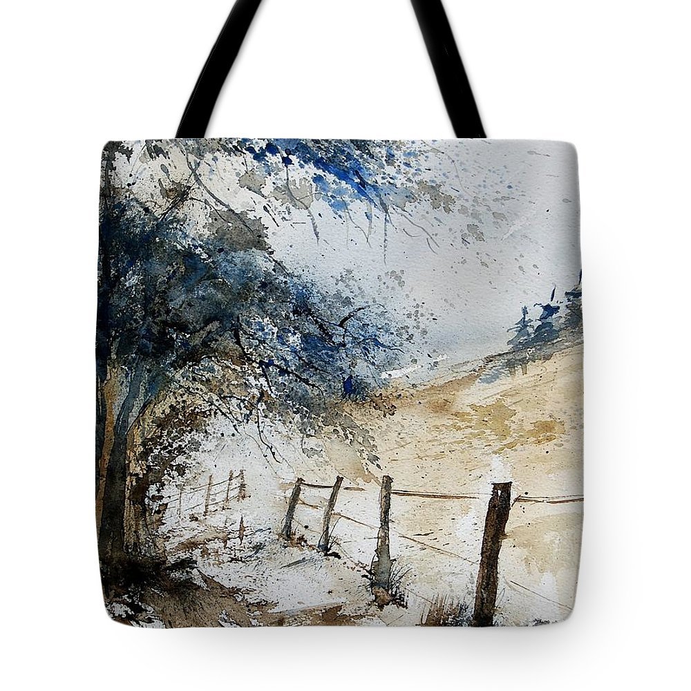 Winter Tote Bag featuring the painting Watercolor 061106 by Pol Ledent