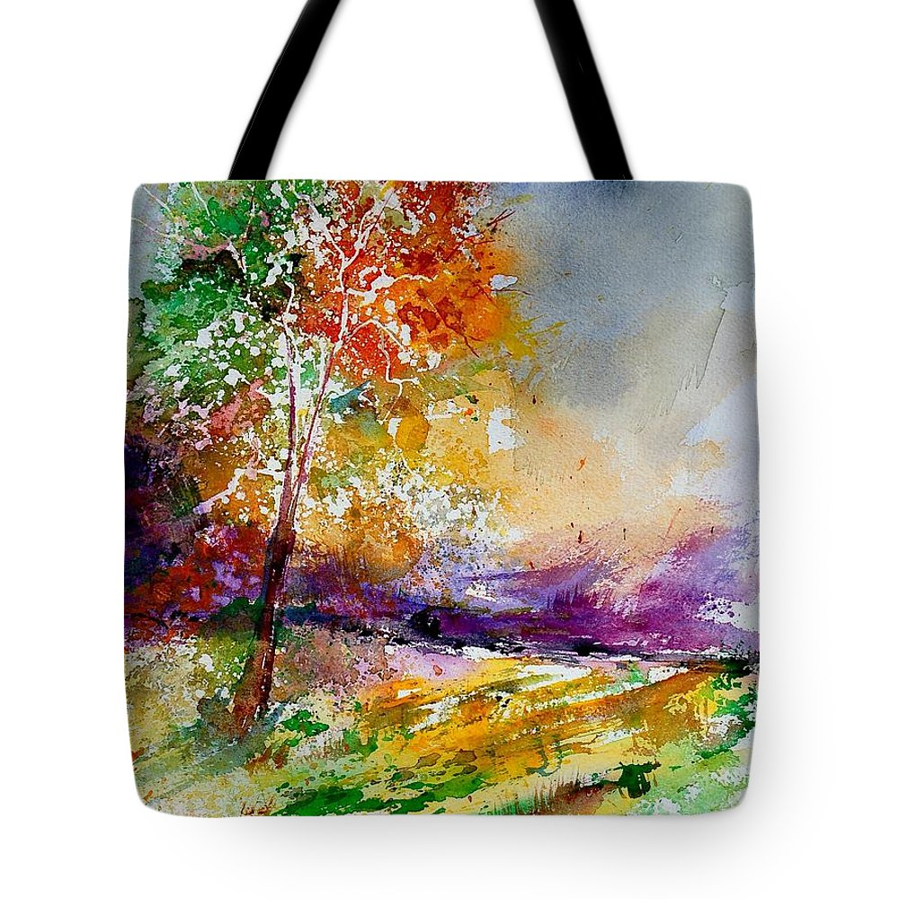 Spring Tote Bag featuring the painting Watercolor 100507 by Pol Ledent