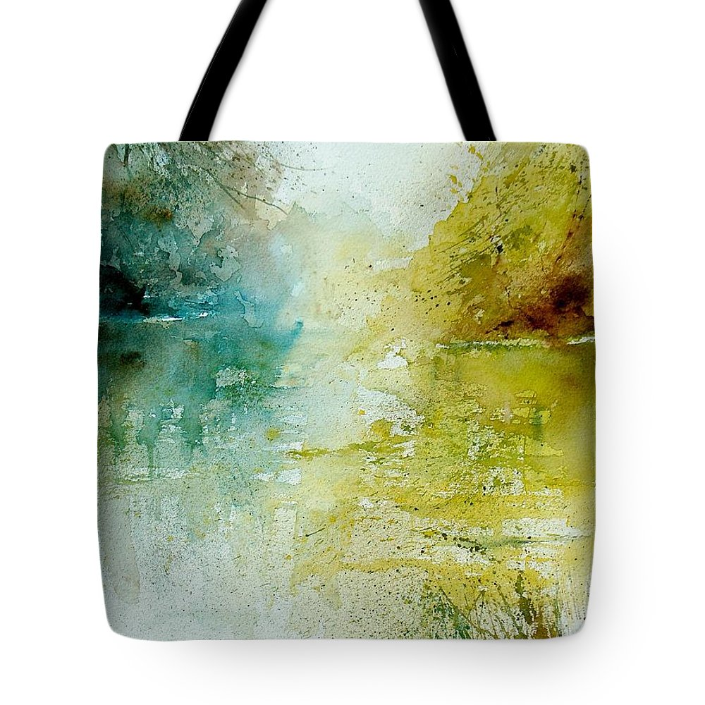 Water Tote Bag featuring the painting Watercolor 111207 by Pol Ledent