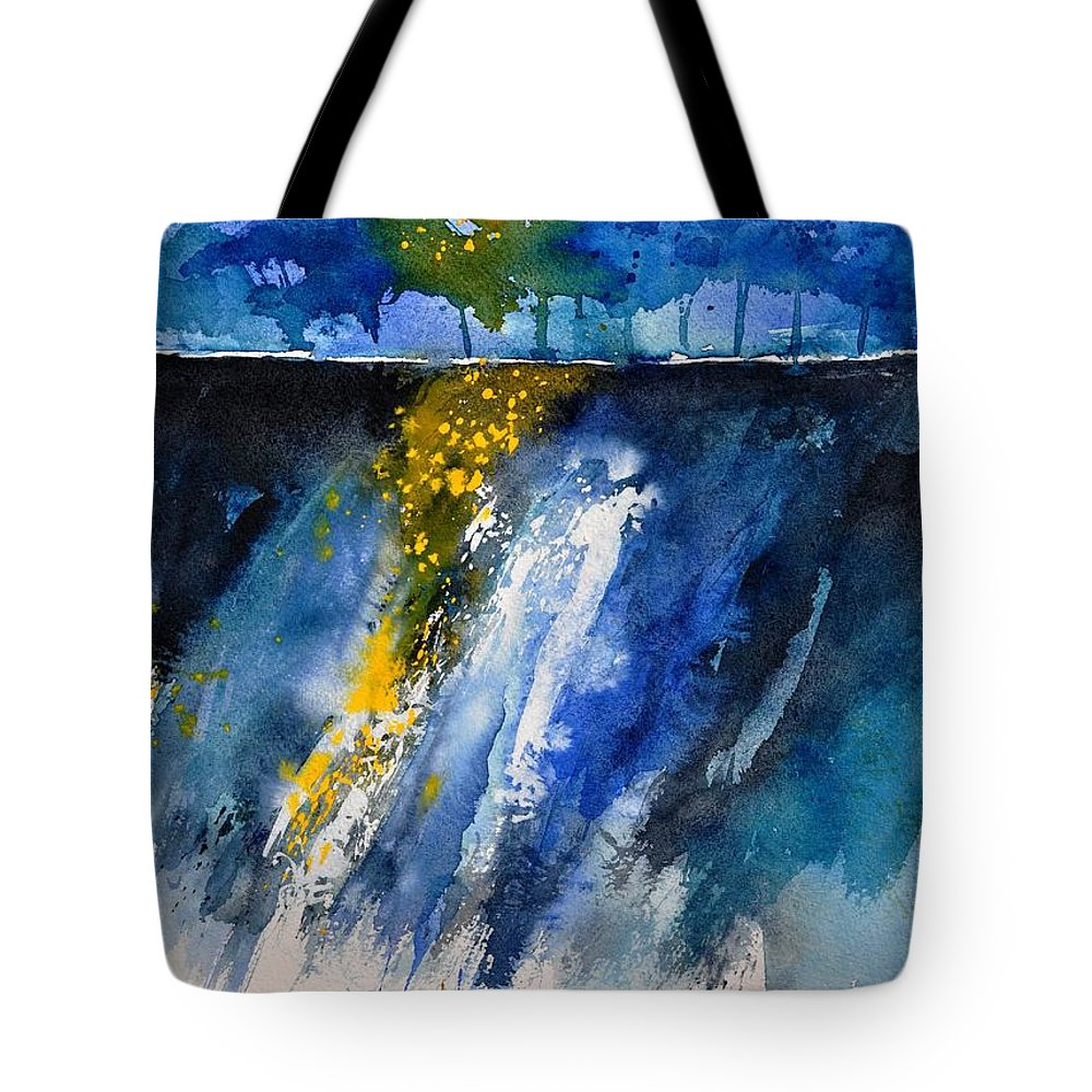 Abstract Tote Bag featuring the painting Watercolor 119001 by Pol Ledent