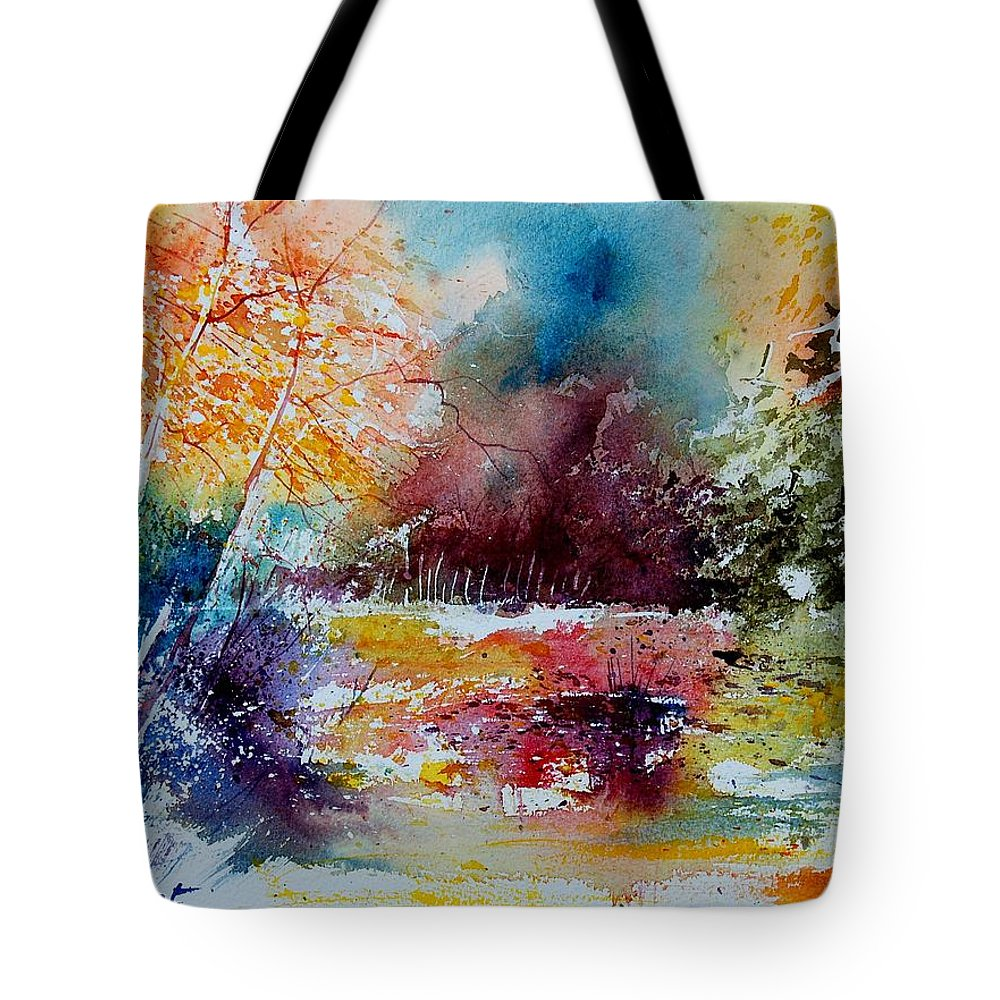 Pond Tote Bag featuring the painting Watercolor 140908 by Pol Ledent
