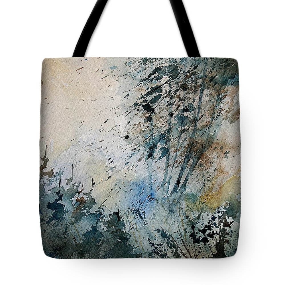 Tree Tote Bag featuring the painting Watercolor 148708 by Pol Ledent
