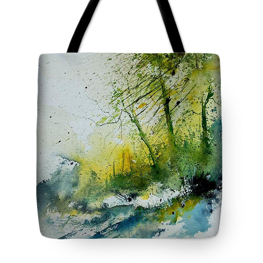 River Tote Bag featuring the painting Watercolor 181207 by Pol Ledent