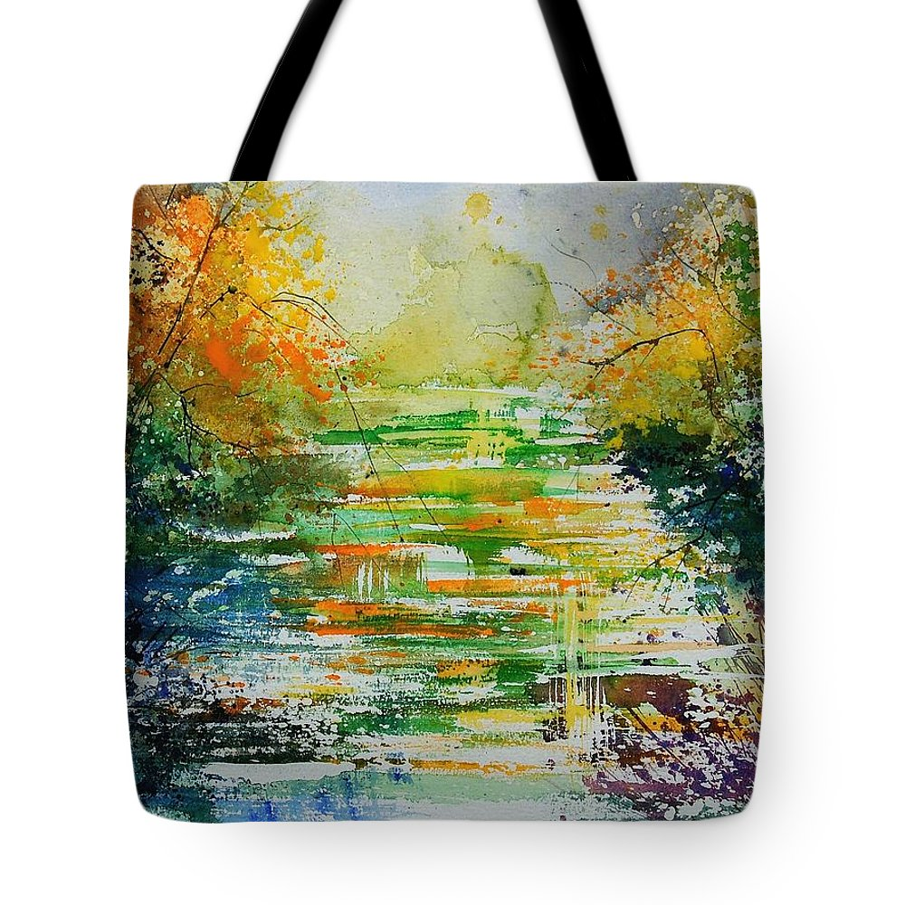 Water Tote Bag featuring the painting Watercolor 230507 by Pol Ledent