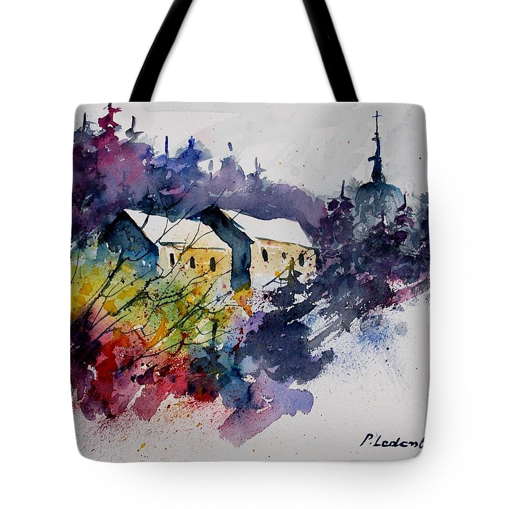 River Tote Bag featuring the painting Watercolor 231207 by Pol Ledent