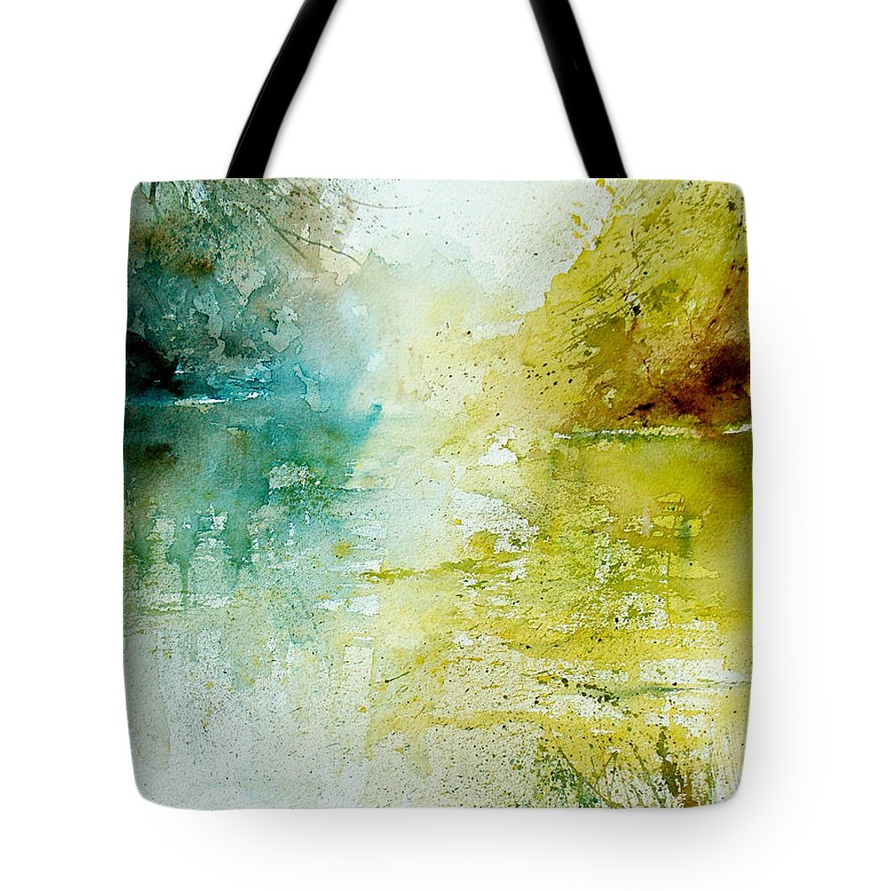 Pond Nature Landscape Tote Bag featuring the painting Watercolor 24465 by Pol Ledent