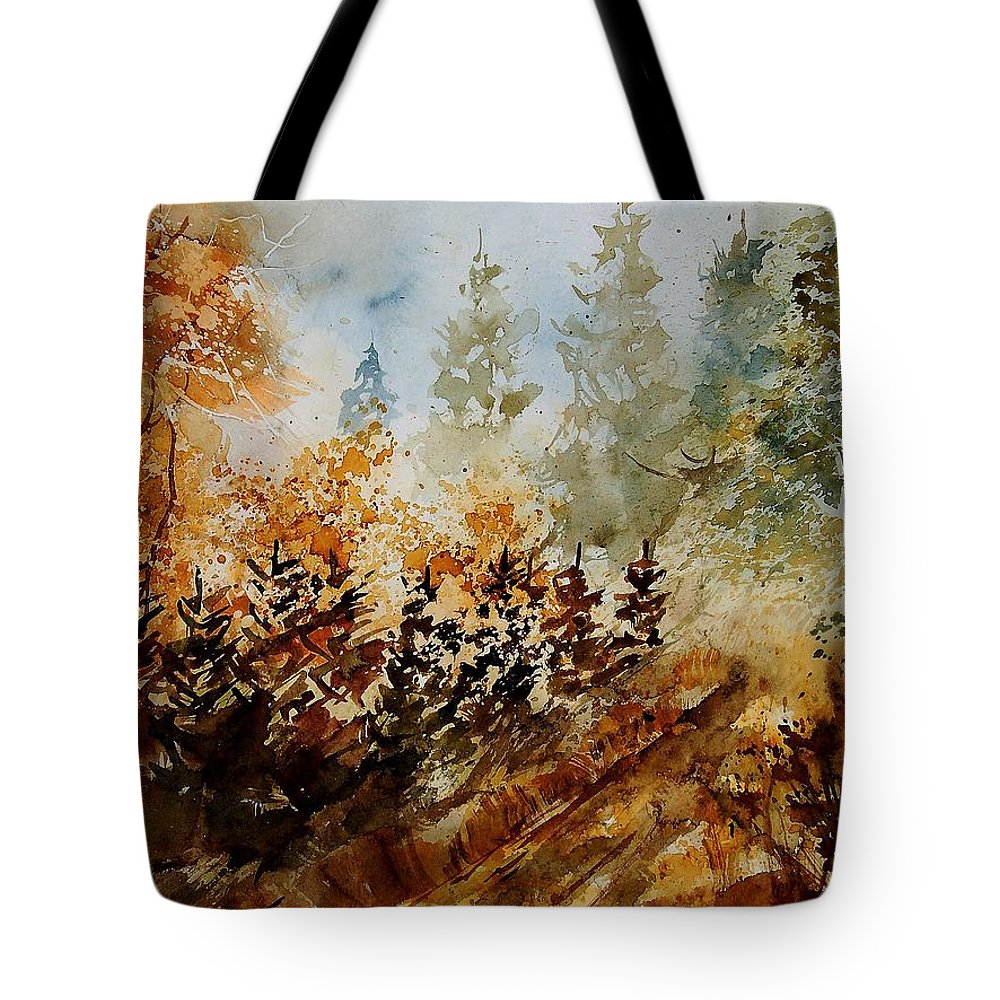 Tree Tote Bag featuring the painting Watercolor 250607 by Pol Ledent