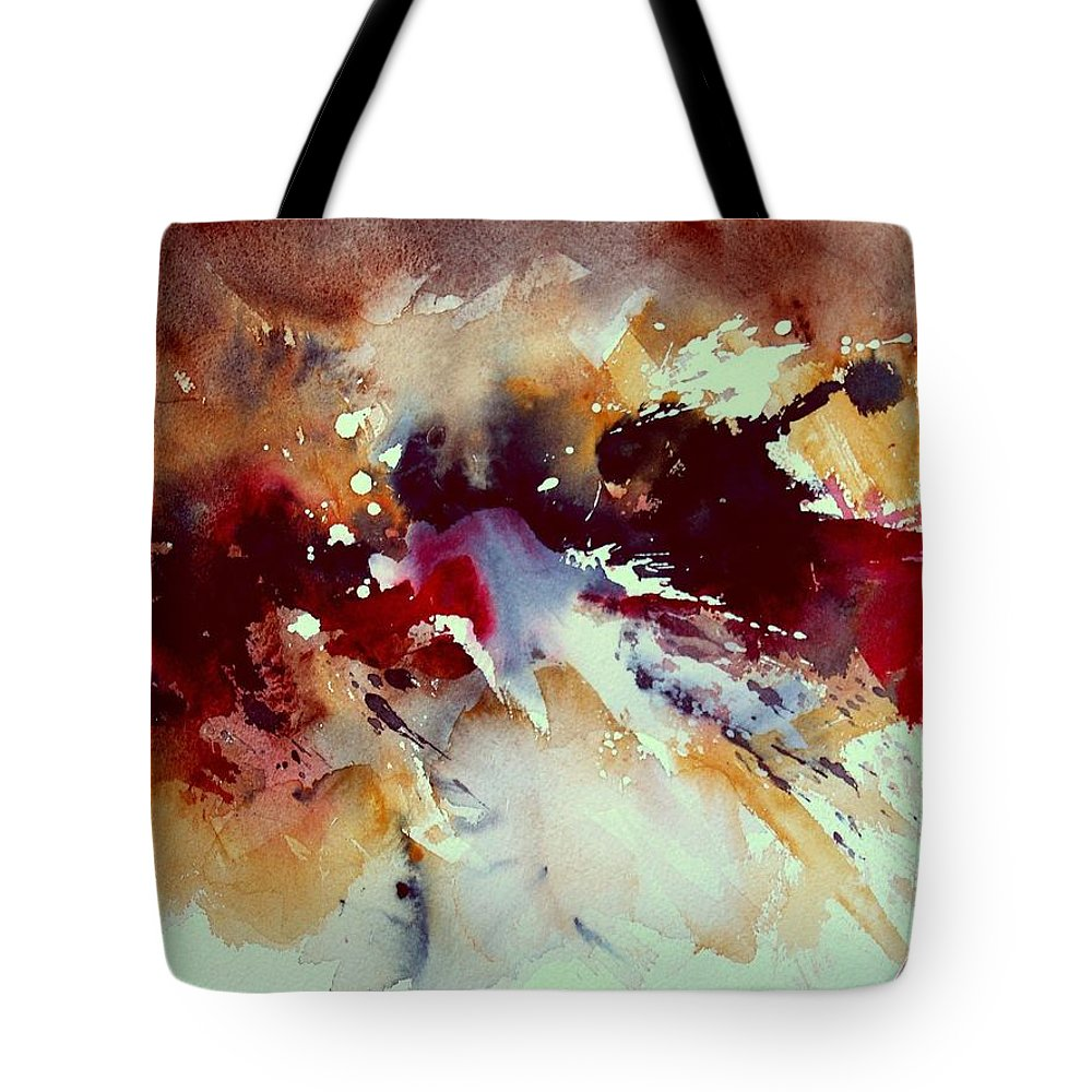 Abstract Tote Bag featuring the painting Watercolor 301107 by Pol Ledent