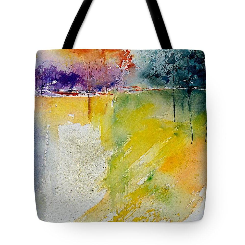 Pond Tote Bag featuring the painting Watercolor 800142 by Pol Ledent