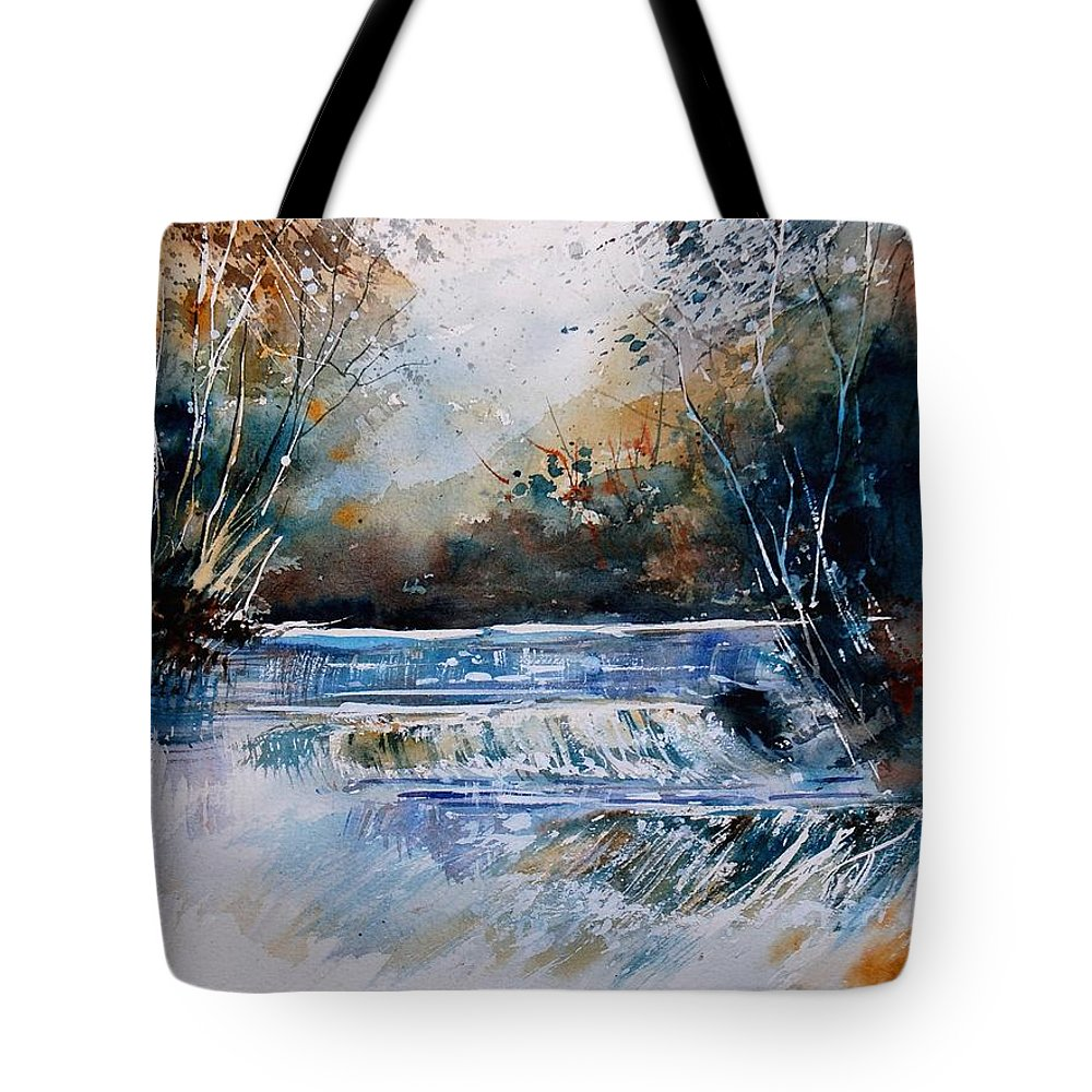 Water Tote Bag featuring the painting Watercolor 902021 by Pol Ledent