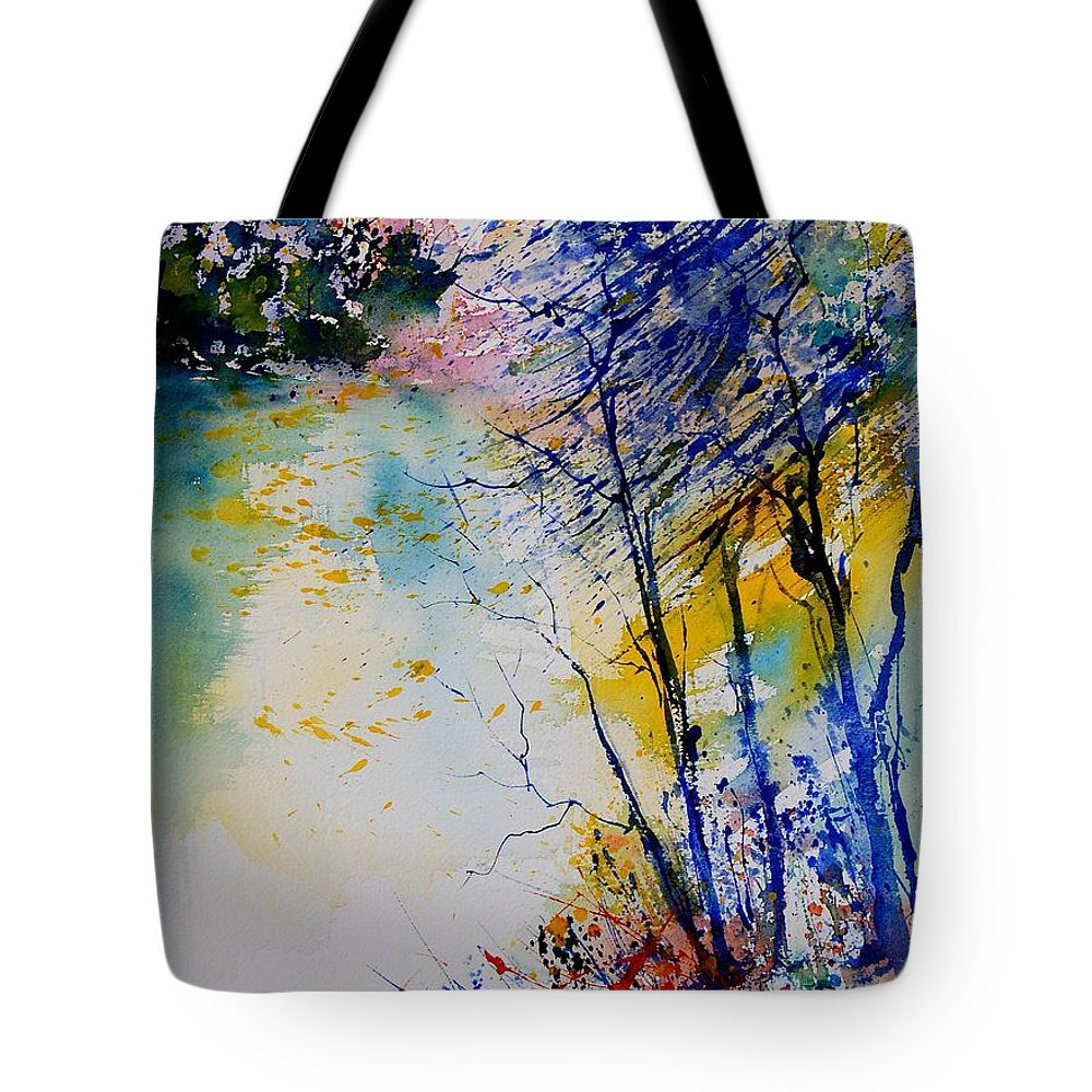 Water Tote Bag featuring the painting Watercolor 902081 by Pol Ledent