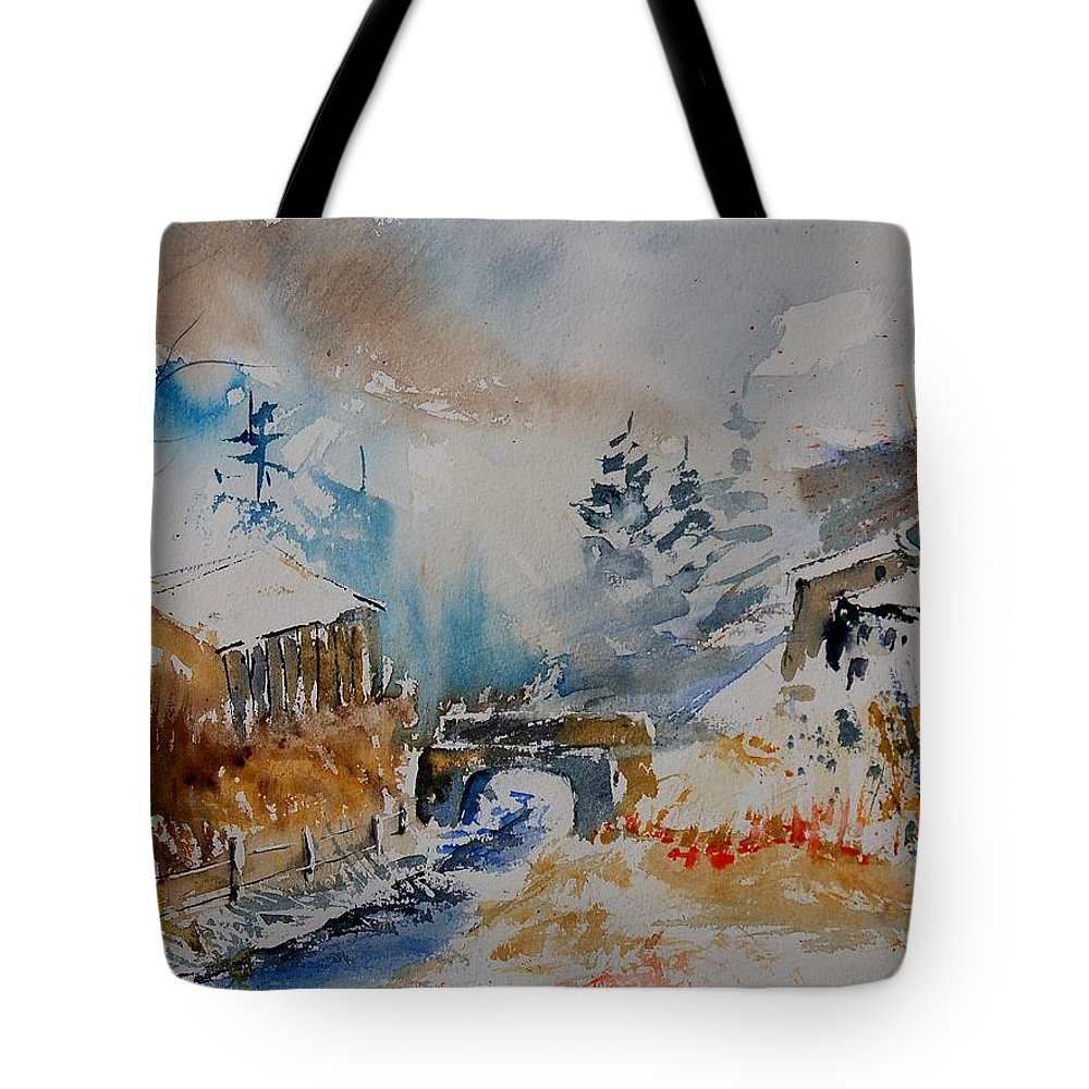 Tree Tote Bag featuring the painting Watercolor 902102 by Pol Ledent