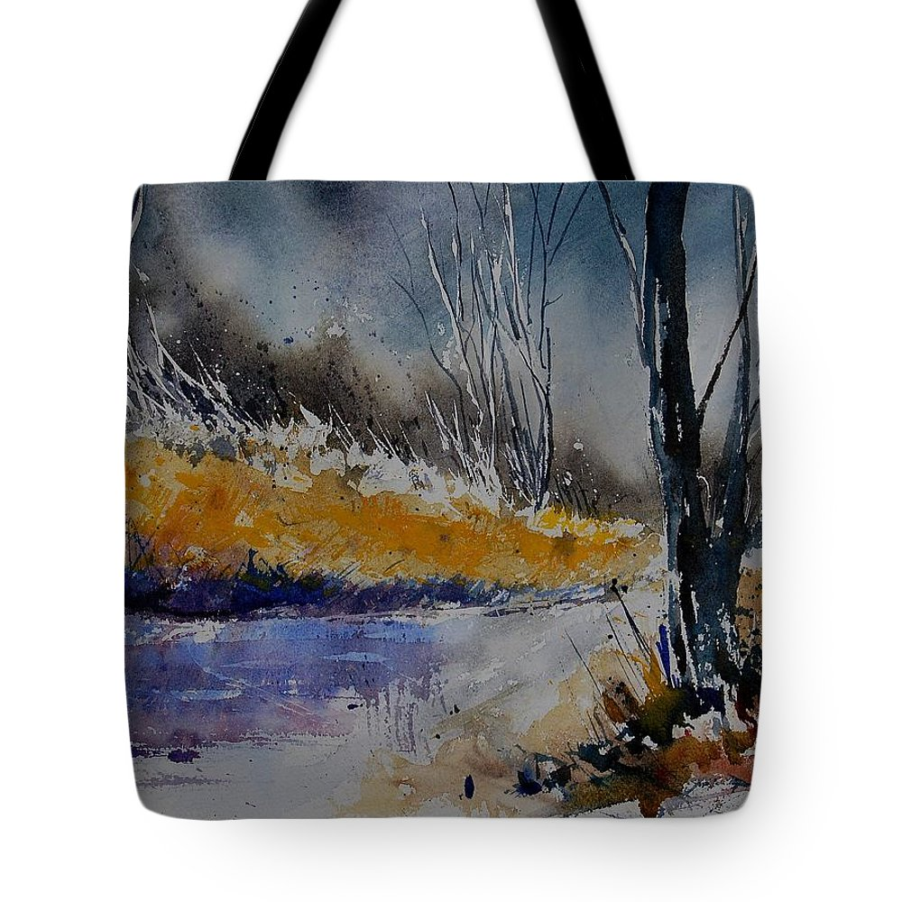 River Tote Bag featuring the painting Watercolor 902111 by Pol Ledent
