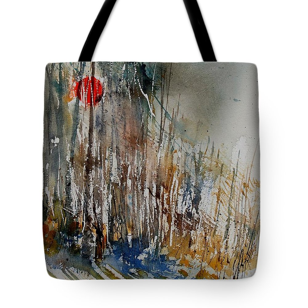 Tote Bag featuring the painting Watercolor 902112 by Pol Ledent