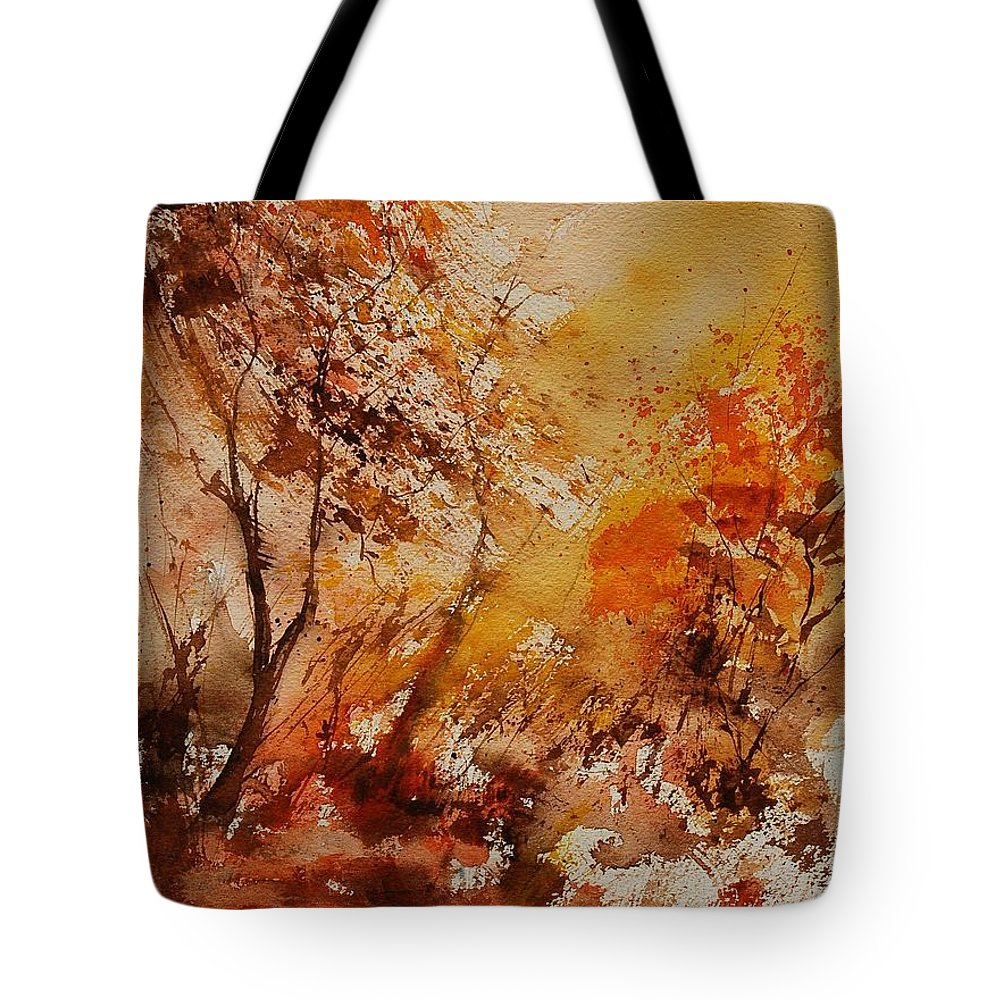 Tree Tote Bag featuring the painting Watercolor 903071 by Pol Ledent