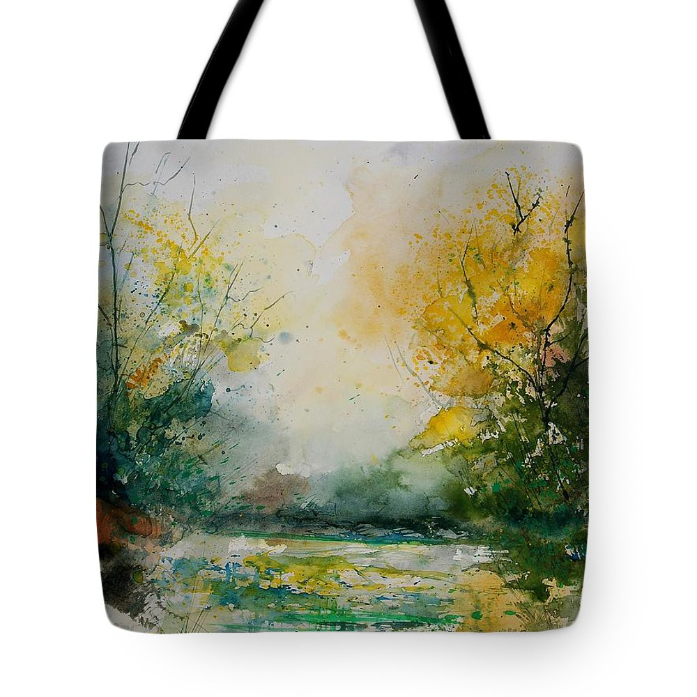 Water Tote Bag featuring the painting Watercolor 905081 by Pol Ledent