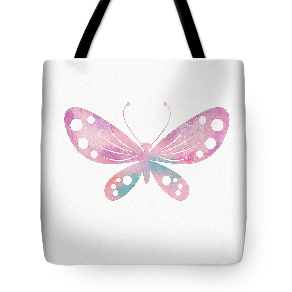 Butterfly Tote Bag featuring the mixed media Watercolor Butterfly 1- Art By Linda Woods by Linda Woods