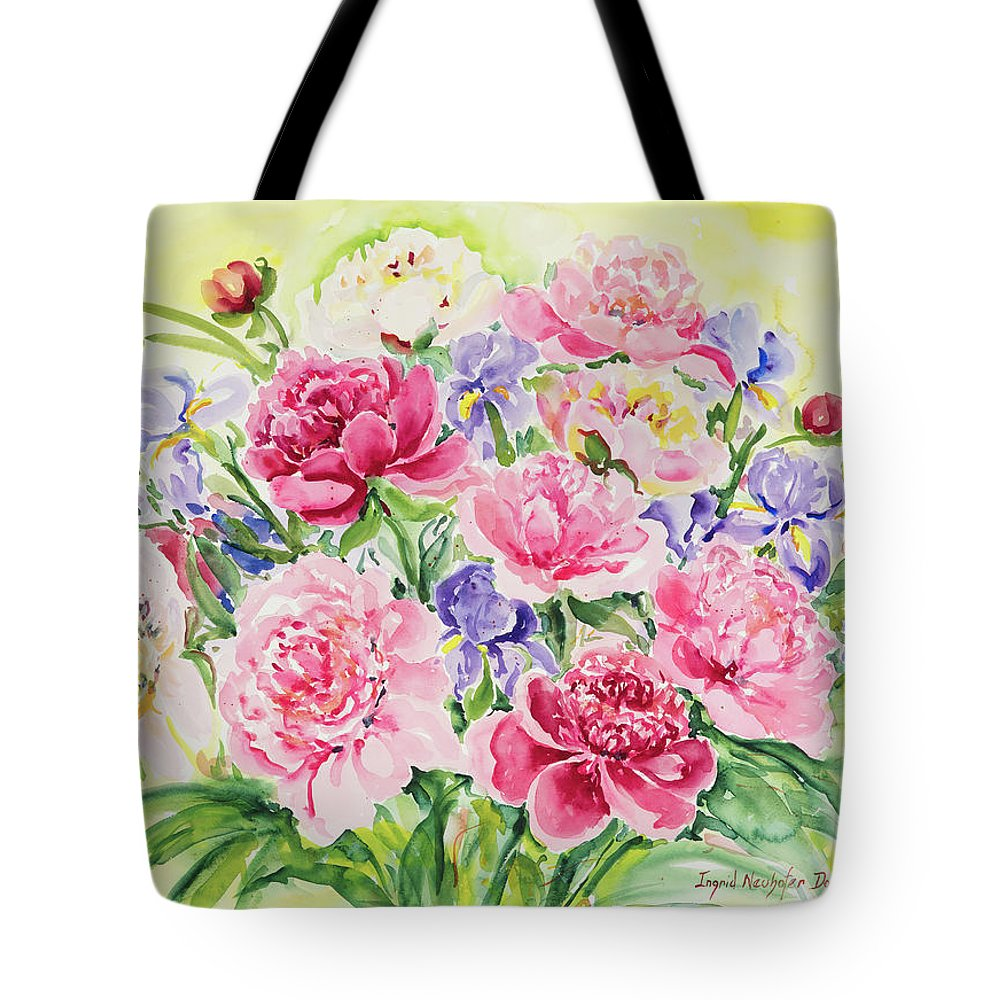 Flowers Tote Bag featuring the painting Watercolor Series 153 by Ingrid Dohm