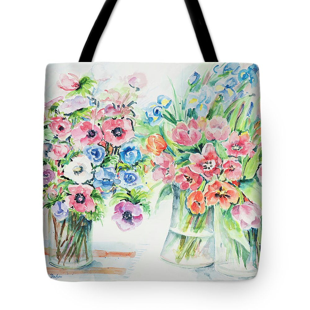 Flowers Tote Bag featuring the painting Watercolor Series 154 by Ingrid Dohm