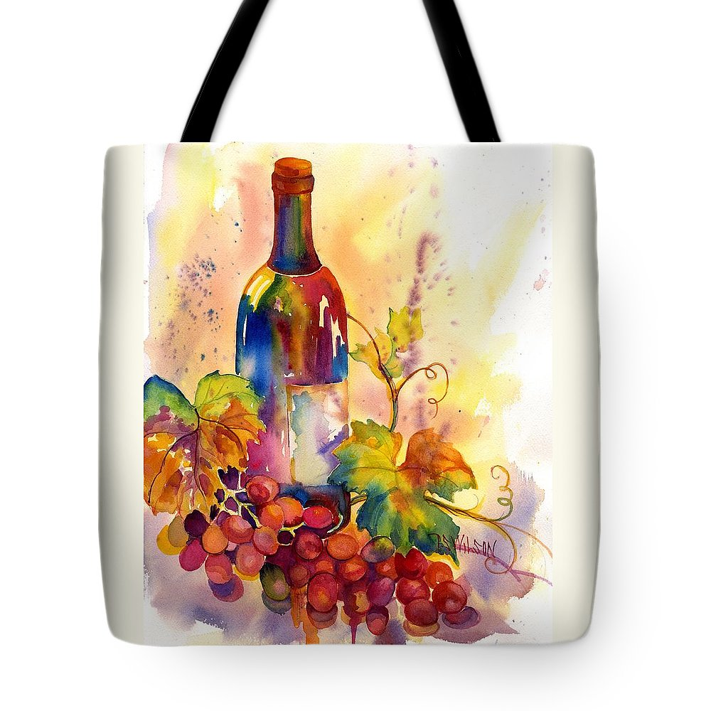 Wine Tote Bag featuring the painting Watercolor Wine by Peggy Wilson