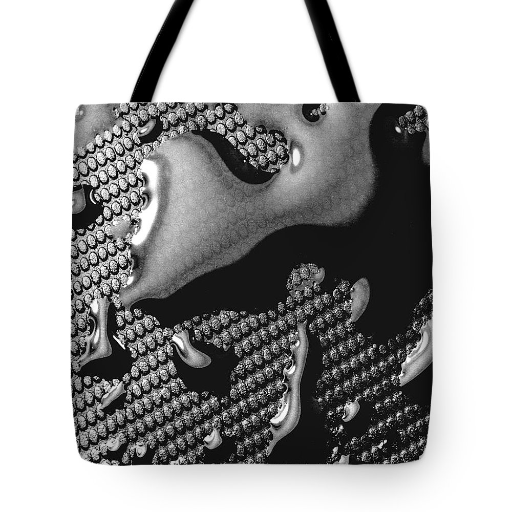 Water Drop Tote Bag featuring the photograph Waterdrop 5 by Nancy Mueller