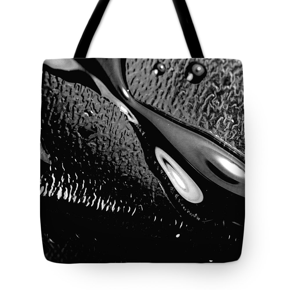 Water Tote Bag featuring the photograph Waterdrop 6 by Nancy Mueller