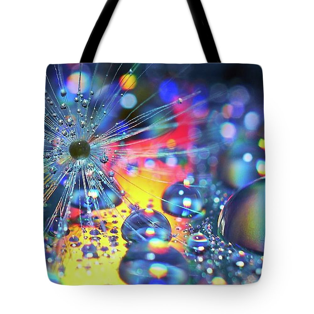 Water Tote Bag featuring the photograph Waterdrops by Paul Hayes