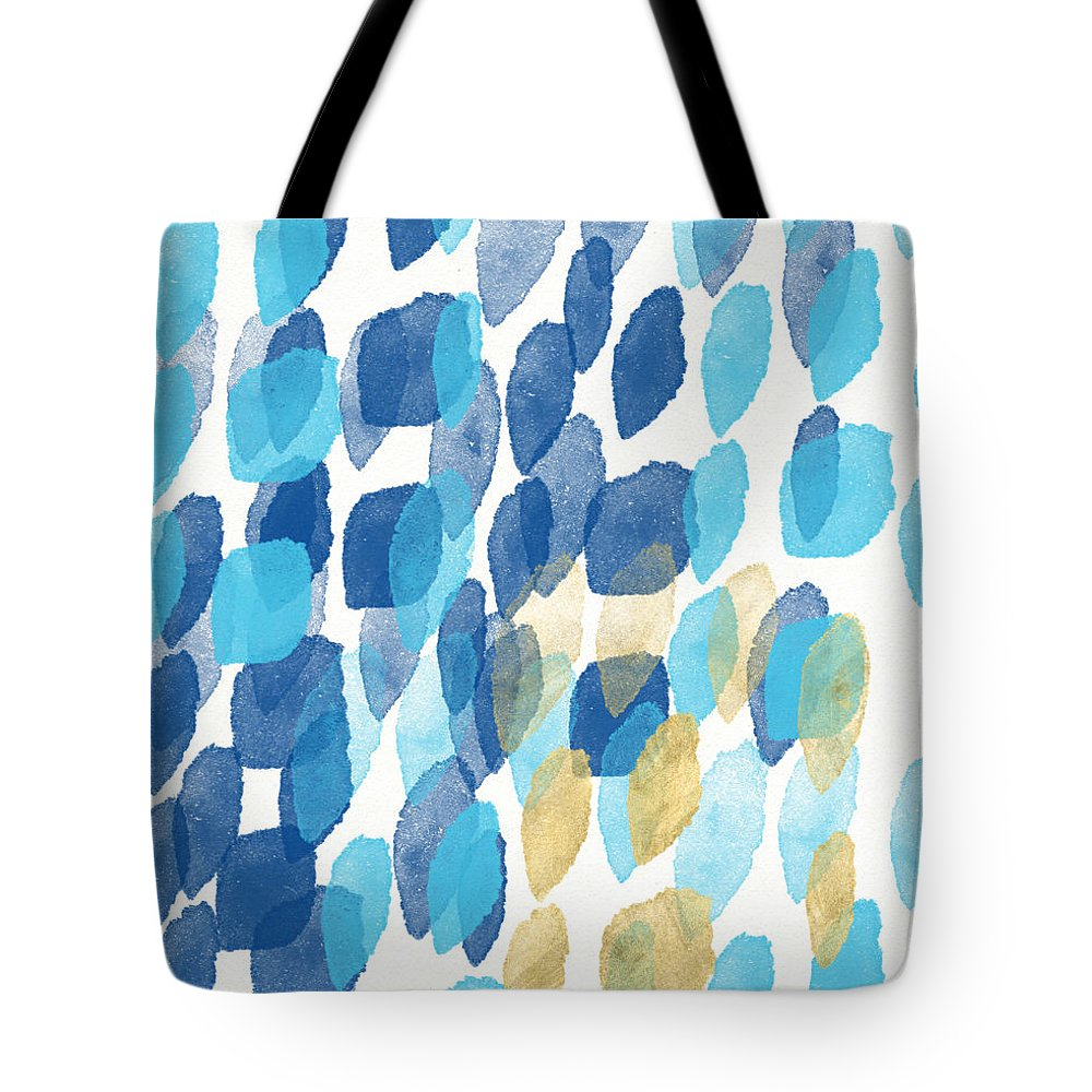 Water Tote Bag featuring the painting Waterfall- Abstract Art by Linda Woods by Linda Woods
