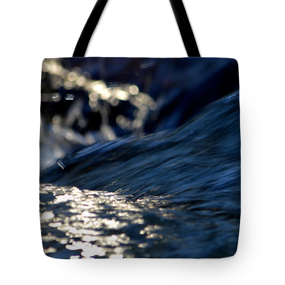 Winter Tote Bag featuring the photograph Waterfall At Dawn by Dianne Cowen