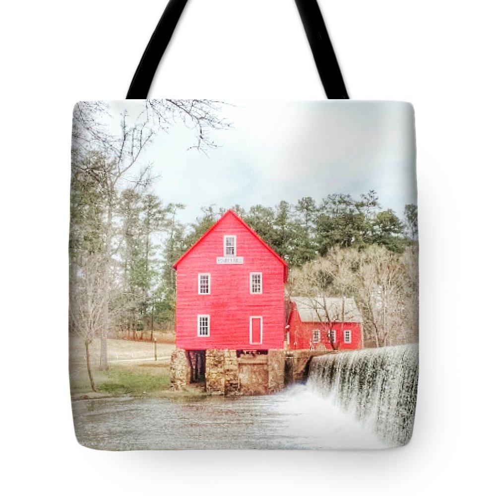 Waterfall Tote Bag featuring the photograph Waterfall by Christine DuMouchel
