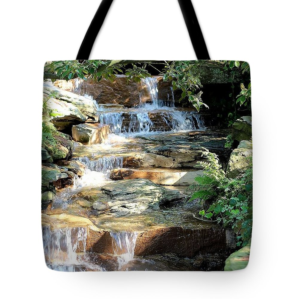 Scenic Tote Bag featuring the photograph Waterfall by Joyce Baldassarre