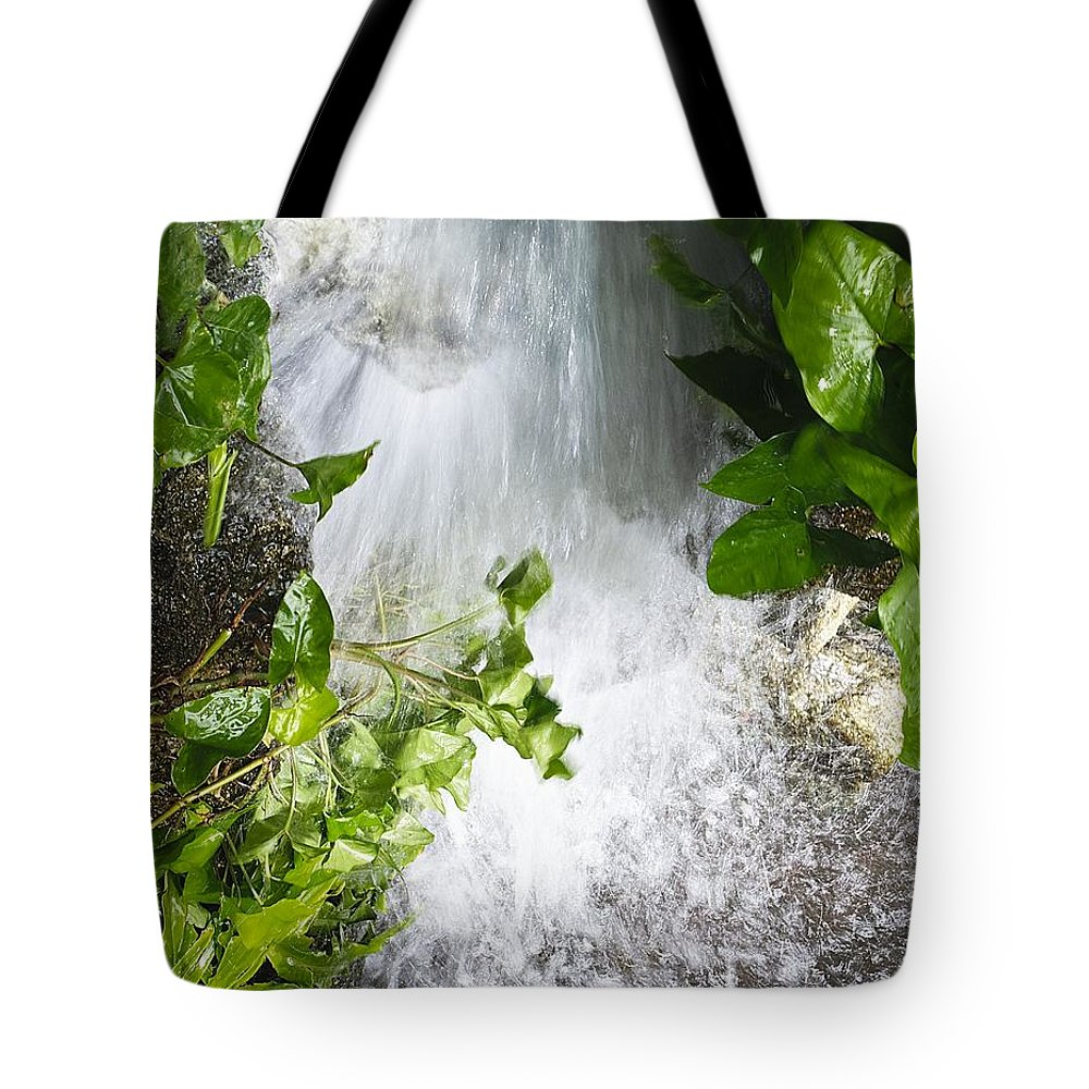 Waterfall Tote Bag featuring the photograph Waterfall by Kenneth Albin