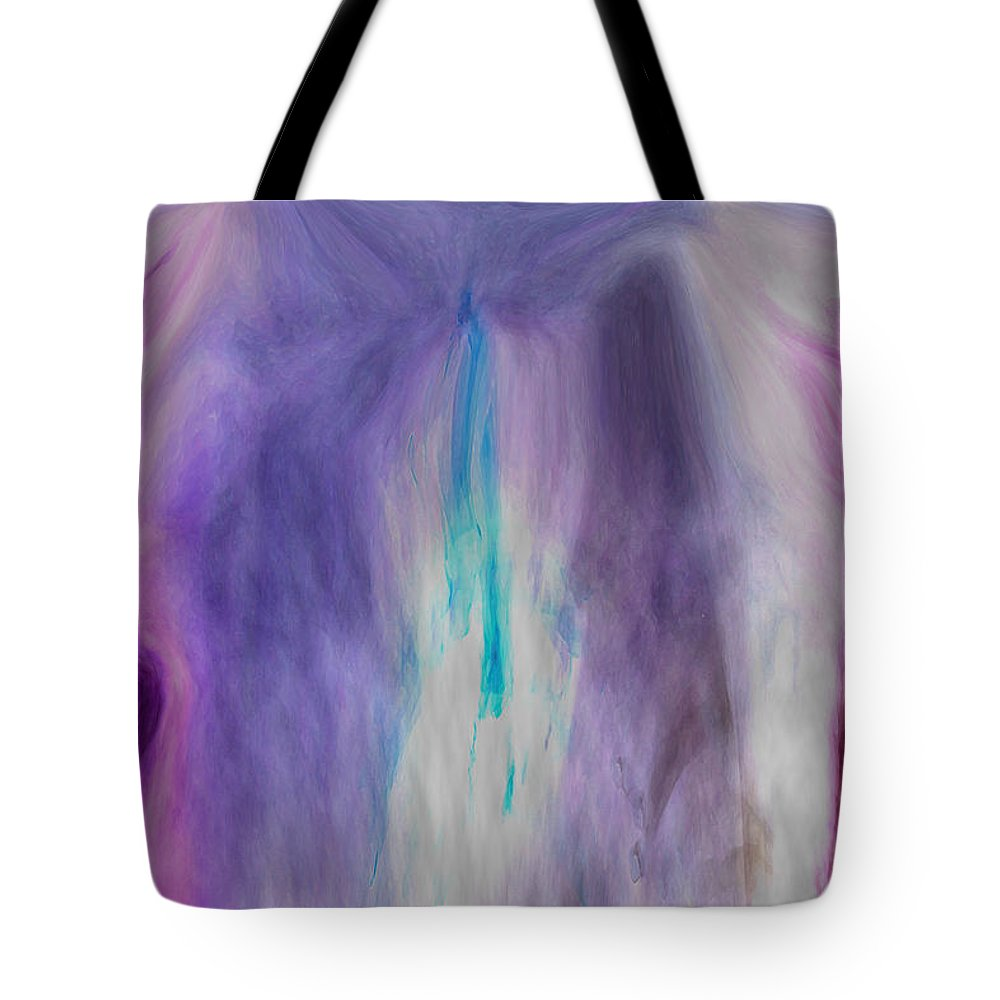 Abstract Art Tote Bag featuring the digital art Waterfall by Linda Sannuti