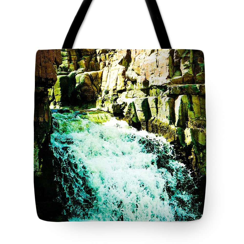 Waterfall Tote Bag featuring the photograph Stairway by Lisa Phillips