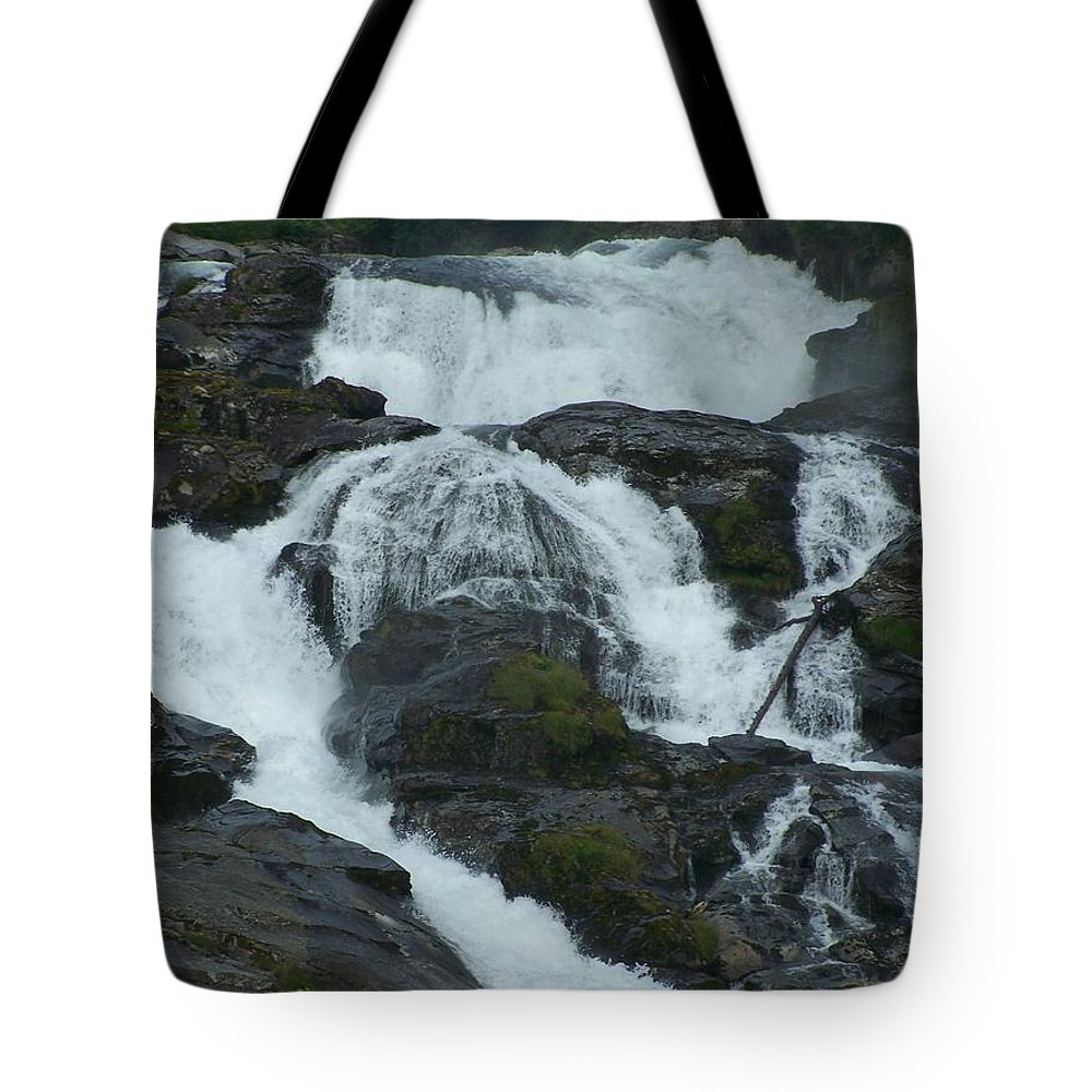 Waterfall Tote Bag featuring the photograph Waterfall by Mariana Goia