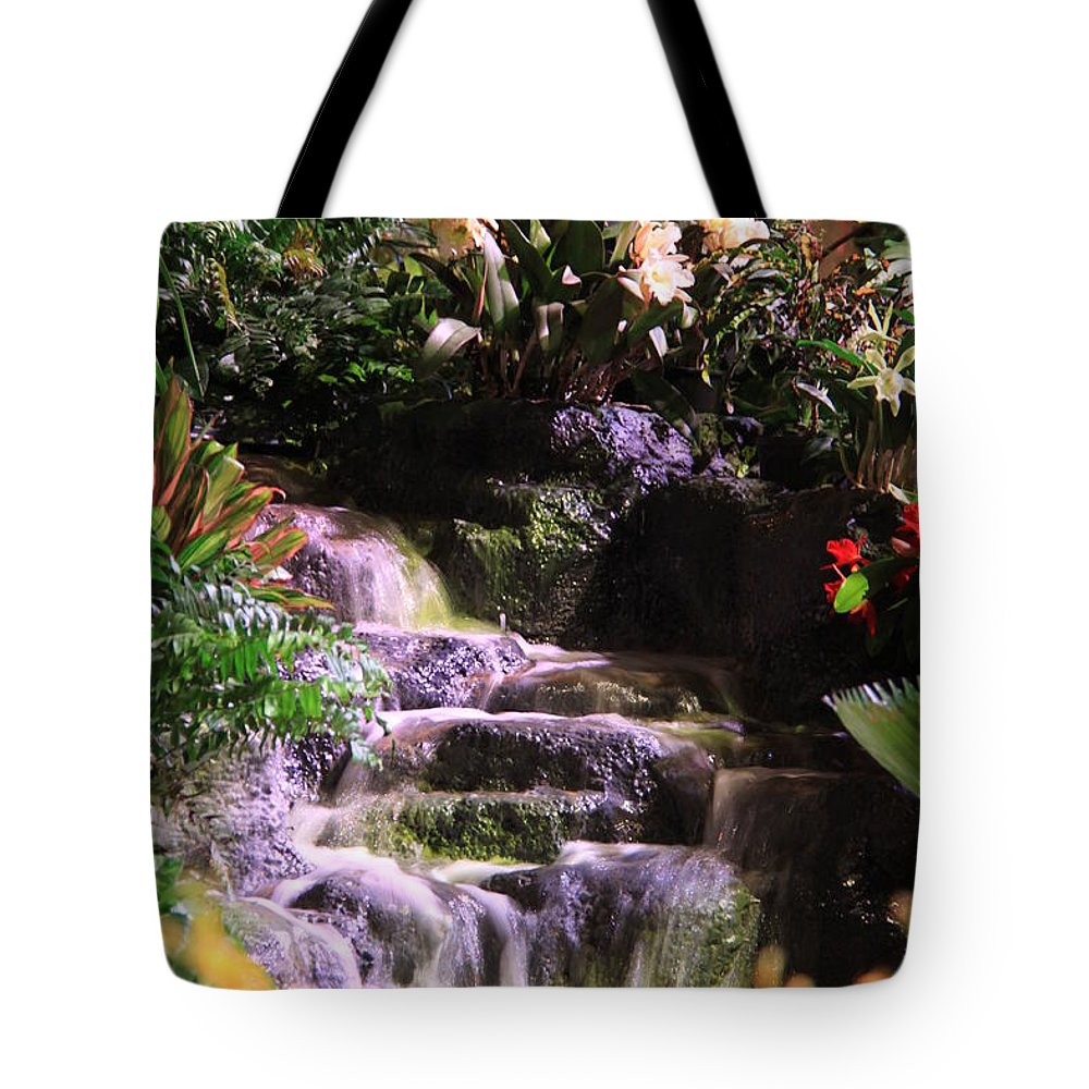 Waterfall Tote Bag featuring the photograph Waterfall by Nicole Dunkelberger