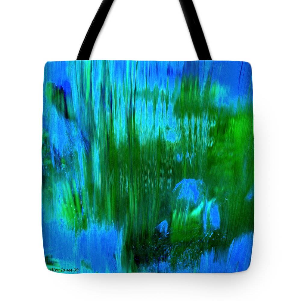 Digital Art Tote Bag featuring the digital art Waterfall by Shelley Jones