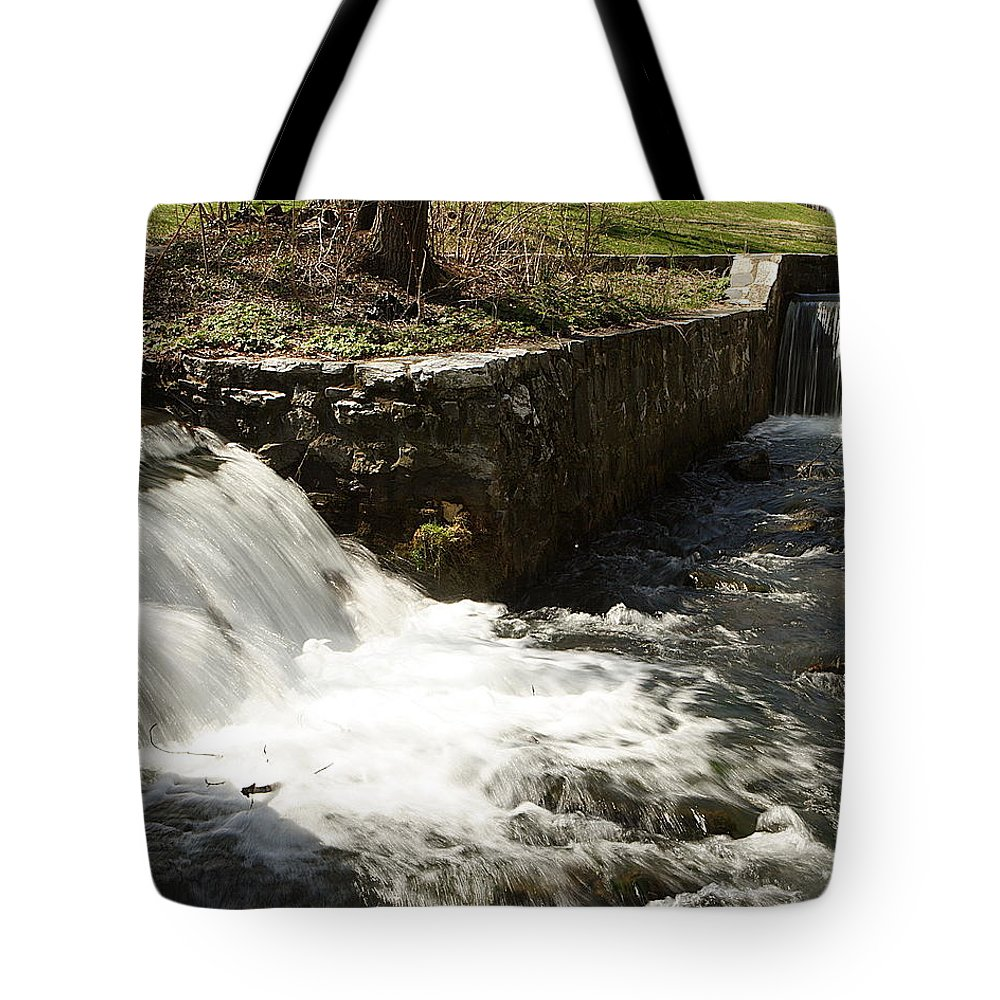 Water Tote Bag featuring the photograph Waterfall Times Two by Jean Macaluso