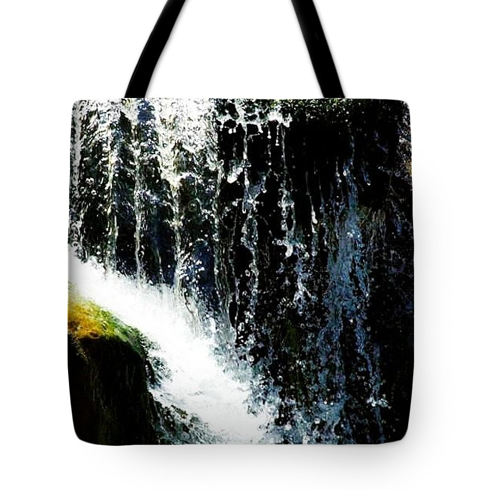 Tote Bag featuring the photograph Waterfall Up Close by Crystal Blair