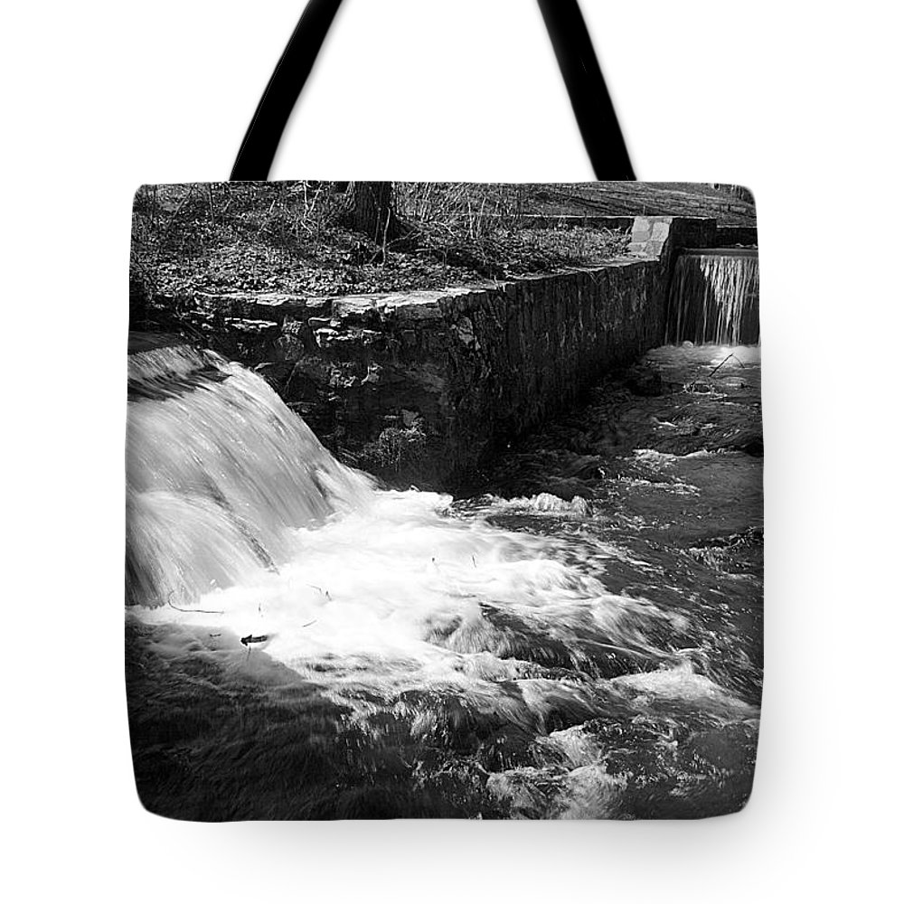 Water Tote Bag featuring the photograph Waterfalls by Jean Macaluso