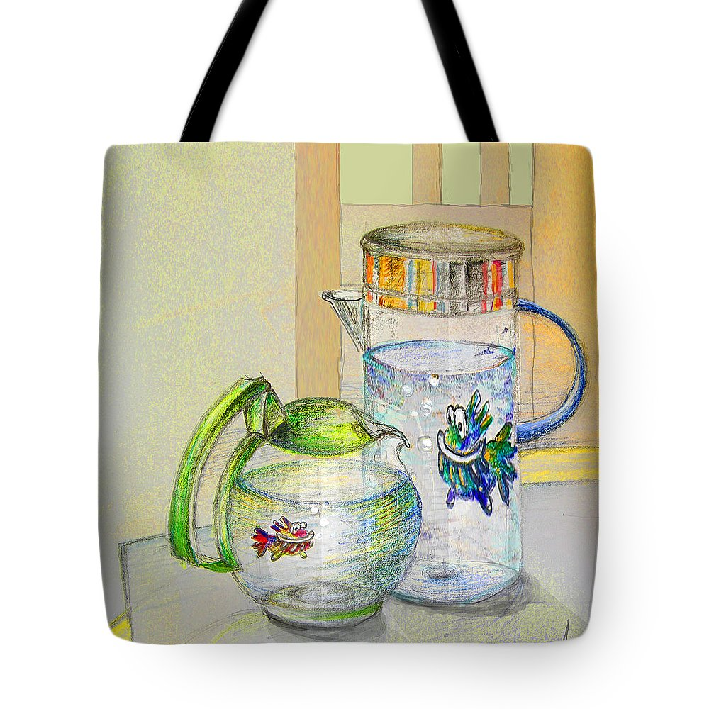 Still Life Tote Bag featuring the painting Waterfest Love by Miki De Goodaboom