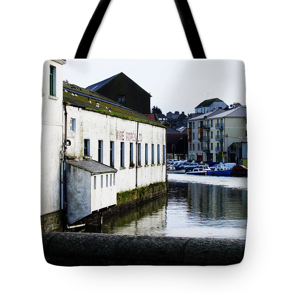 River Tote Bag featuring the photograph Waterfront Factory by Tim Nyberg