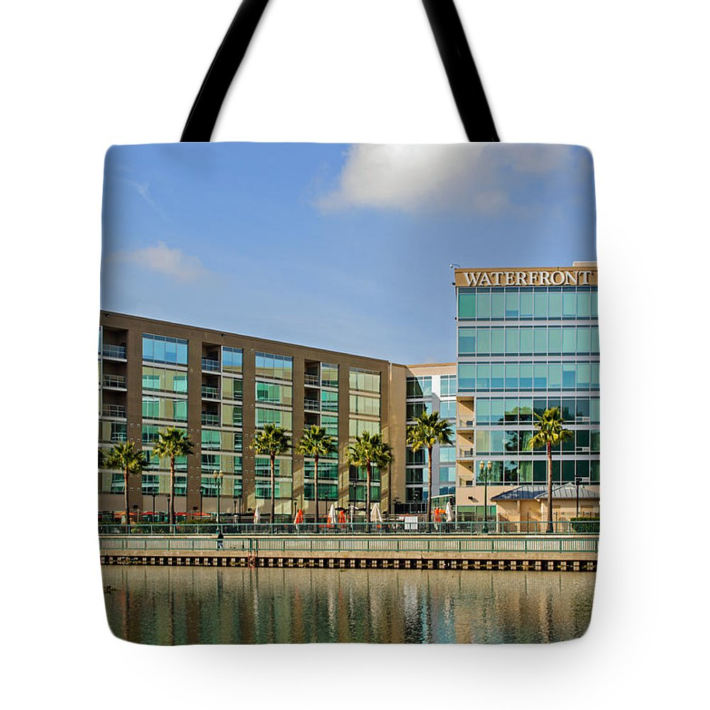 Waterfront Hotel Tote Bag featuring the photograph Waterfront Hotel by Tikvah's Hope