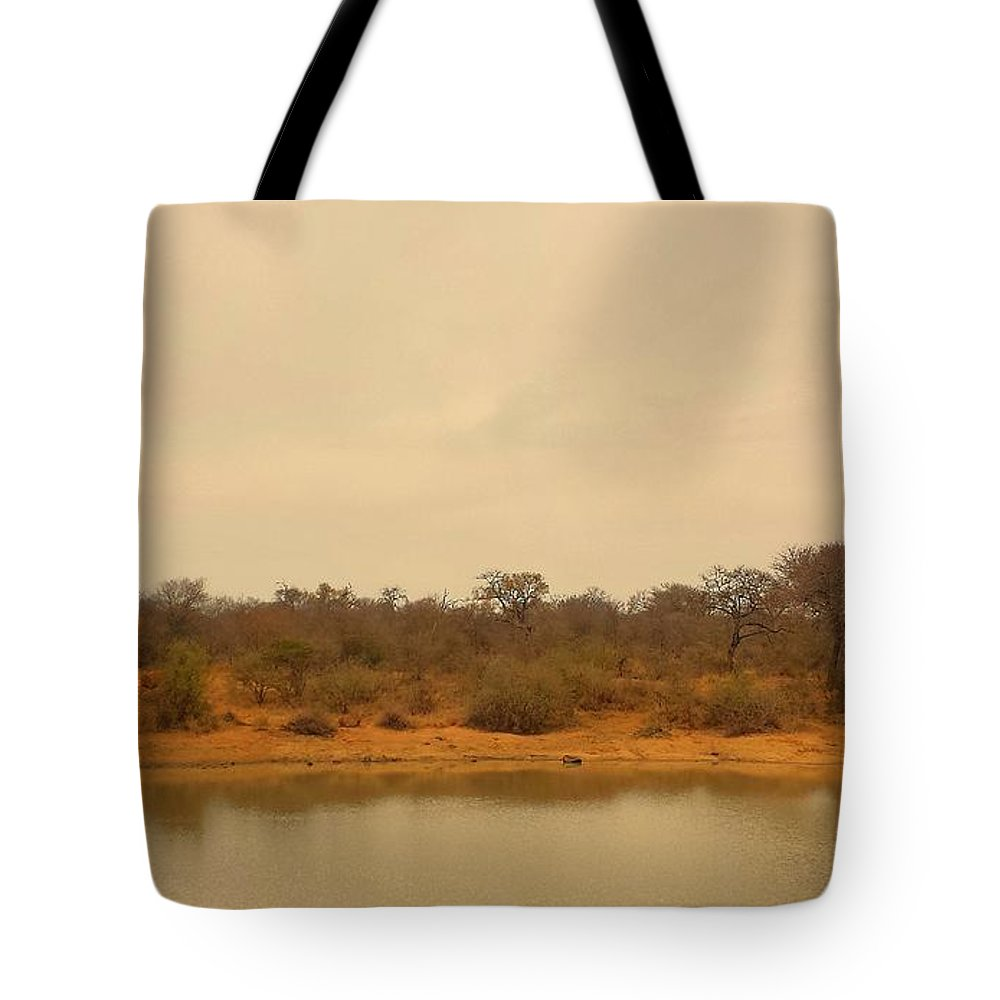 Water Tote Bag featuring the photograph Watering Hole by Lisa Byrne