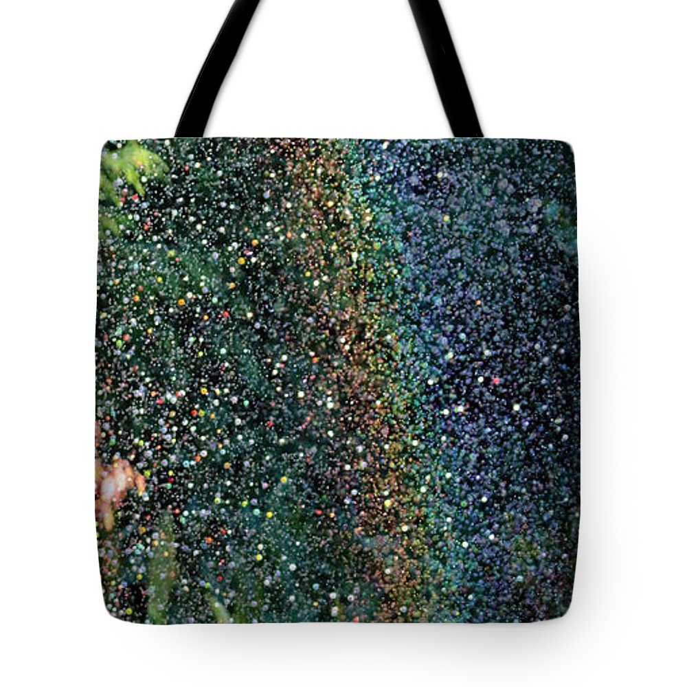 Watering Tote Bag featuring the photograph Watering Rainbows by Jane McGowan