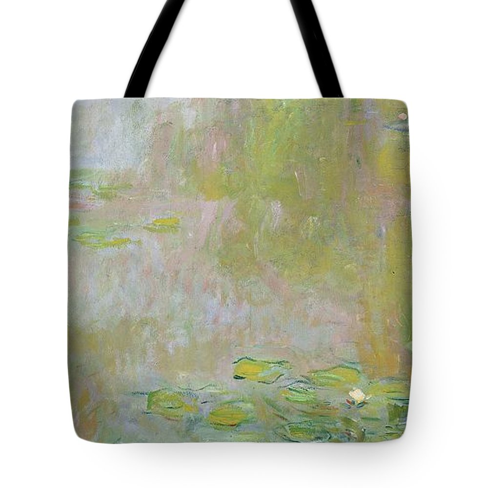 Waterlilies At Giverny Tote Bag featuring the painting Waterlilies at Giverny by Claude Monet