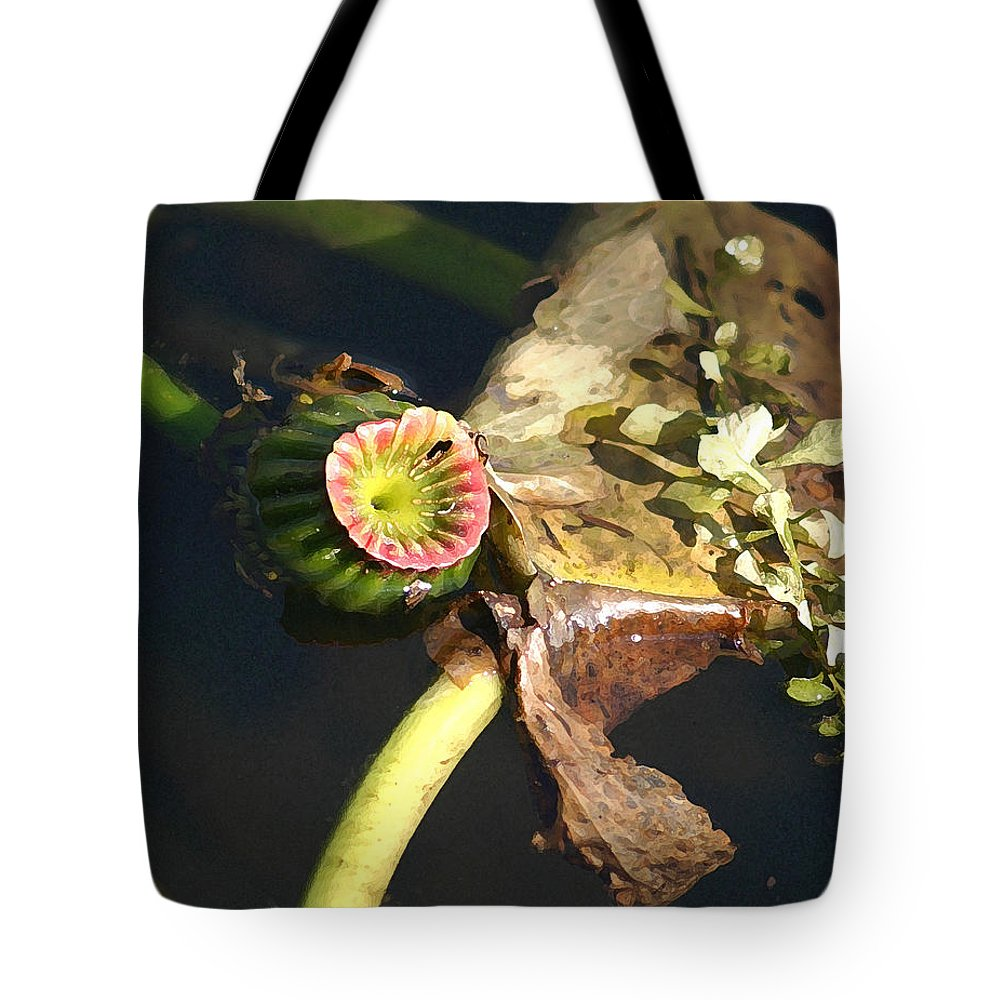 Waterlily Tote Bag featuring the photograph Waterlily by Mary Haber