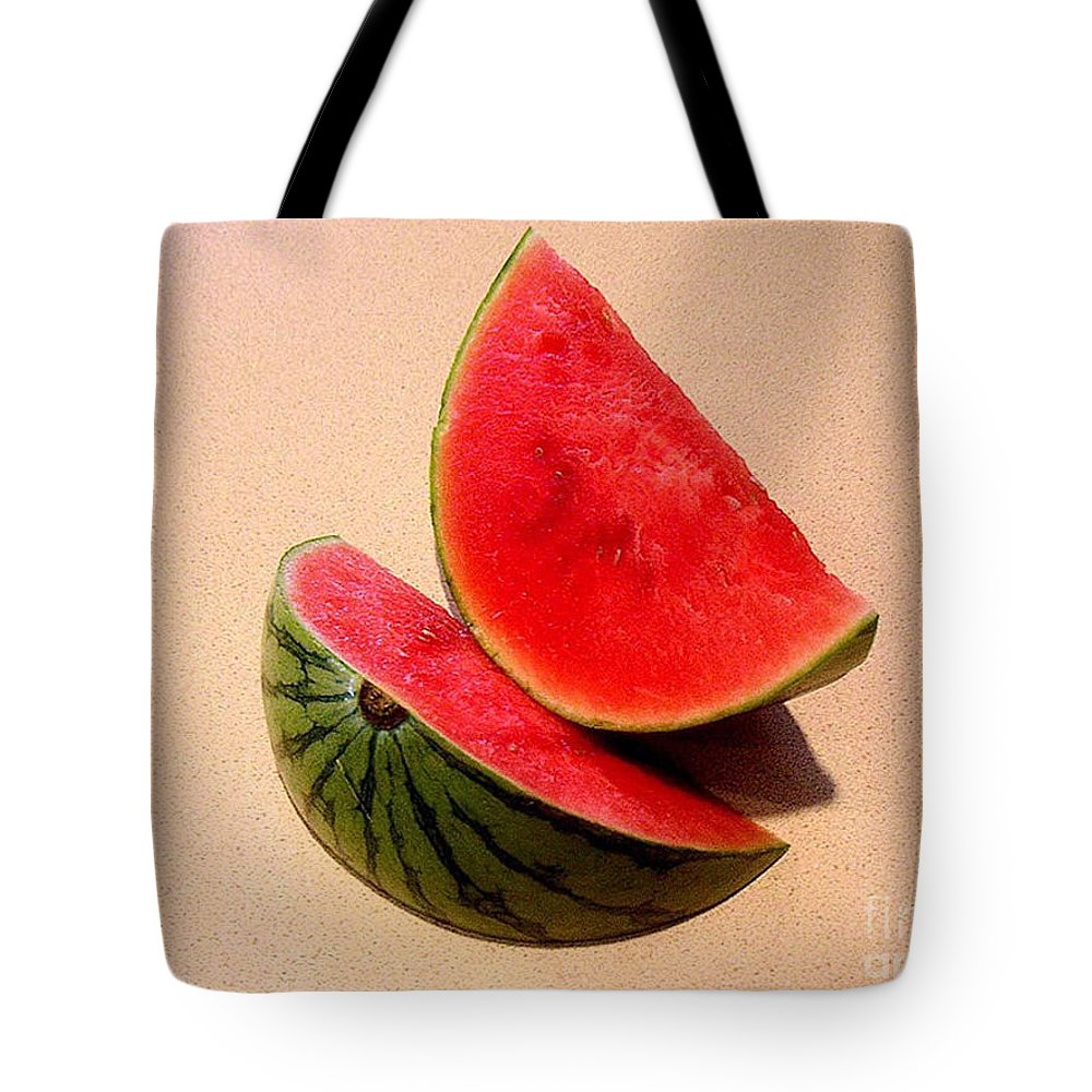 Nature Tote Bag featuring the photograph Watermelon Study by Lucyna A M Green