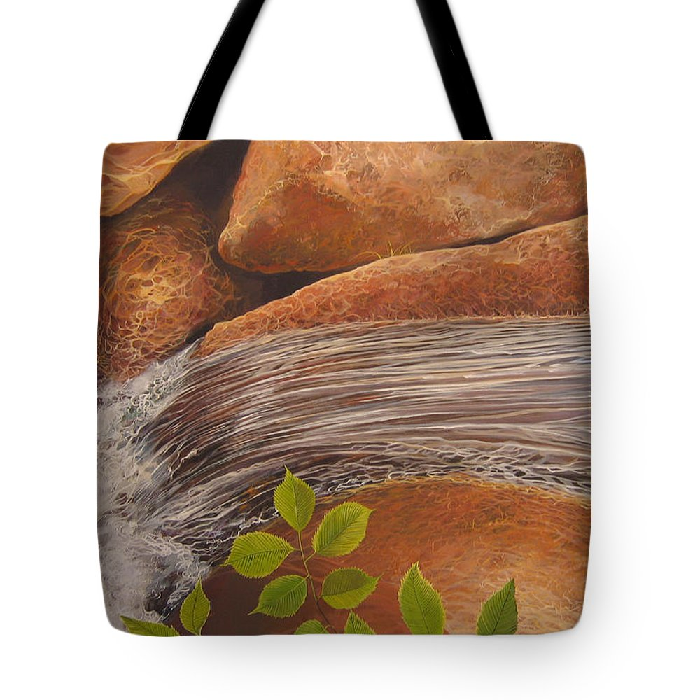 Water Tote Bag featuring the painting Water's Edge by Hunter Jay