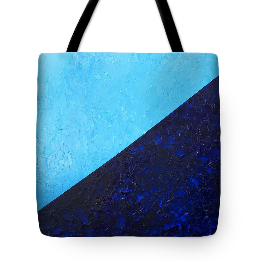 Impasto Tote Bag featuring the painting Water's Edge by JoAnn DePolo